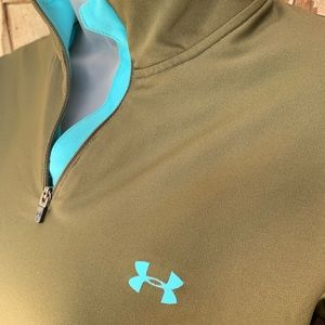 Under Armour Zippered Fitted Pullover Sweater L